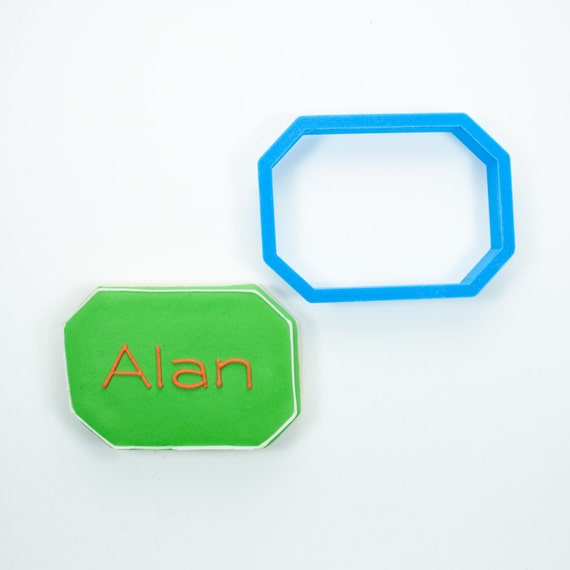 The Alan Plaque Cookie Cutter