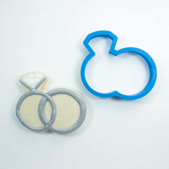 Wedding Rings Cookie Cutter | His and Hers Rings | Ring Pair Cookie Cutter | Wedding Cookie Cutters | Engagement Cookies