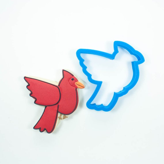 Cardinal Cookie Cutter | Bird Cookie Cutters | Animal Cookie Cutters | Unique Cookie Cutters | Mini Cookie Cutters | 3D Cookie Cutters