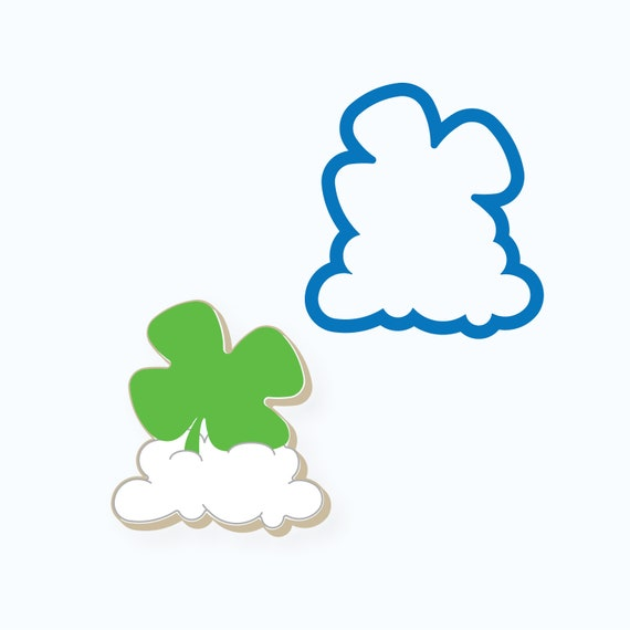 Four Leaf Clover on Cloud Cookie Cutter