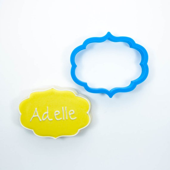 Plaque Cookie Cutter | Adelle Plaque Cookie Cutter | Frame Cookie Cutter | Unique Cookie Cutter | 3d Cookie Cutter | Frosted Cutters