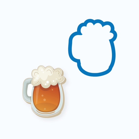 Beer Mug Cookie Cutter | Beer Cookie Cutter | Father's Day Cookie Cutter | St Patrick's Day Cookie Cutter | Unique Cookie Cutter | FrostedCo