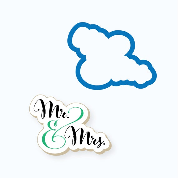 Mr and Mrs Plaque Cookie Cutter