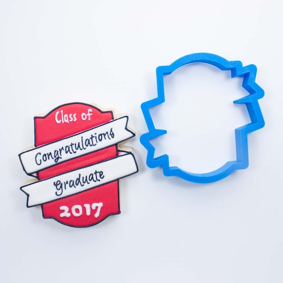 The Double Banner Plaque Cookie Cutter