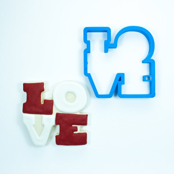 Love Square Cookie Cutter | Valentine Cookie Cutter | Valentines Cookie Cutter | Word Cookie Cutters