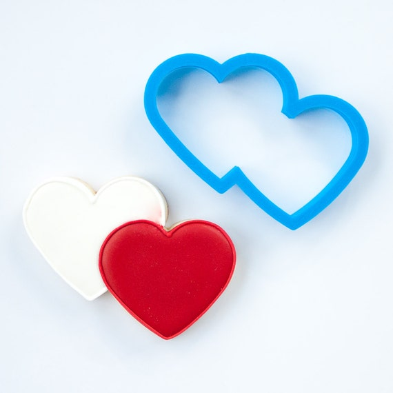Double Heart Cookie Cutter | Heart Shaped Cookie Cutter | Valentines Cookie Cutter | Unique Cookie Cutters | Heart Cookie Cutters