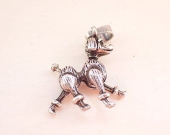 Costume Pearl Cage Tummy Vintage Poodle Pendant ~ Articulated