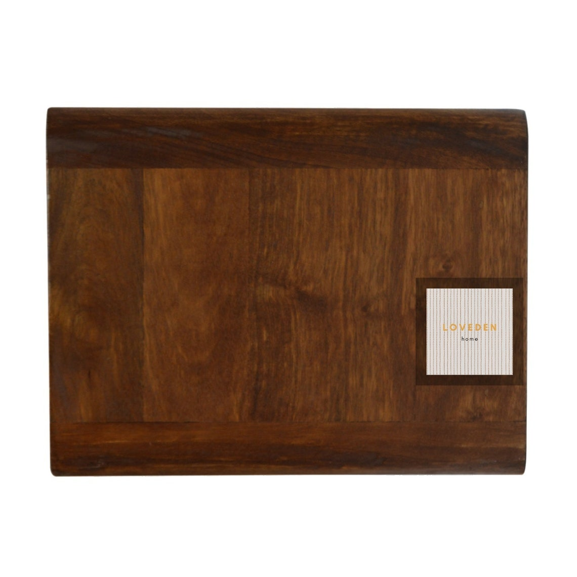 Wall Mounted Curved Chestnut Solid Wood Bedside Table