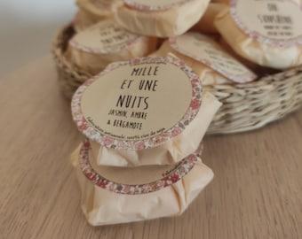 "Natural scented wax ""Mille et une nuits"" / Jasmine, amber & bergamot"