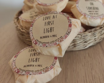 """Natural scented wax """"Love at first light"""" / Palmarosa & musk"""