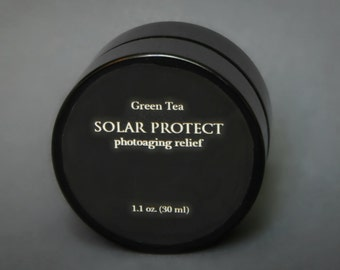 Green Tea SOLAR PROTECT, All Natural Sun Screen, Prevent Sun Spots, Safely Protect against photo-aging, Anti-oxidant rich sun protection