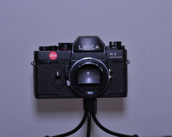 Leica R3 Electronic 35mm analogue SLR camera body only with Leica T2 Leicaflex R3 mount - Made in Portugal