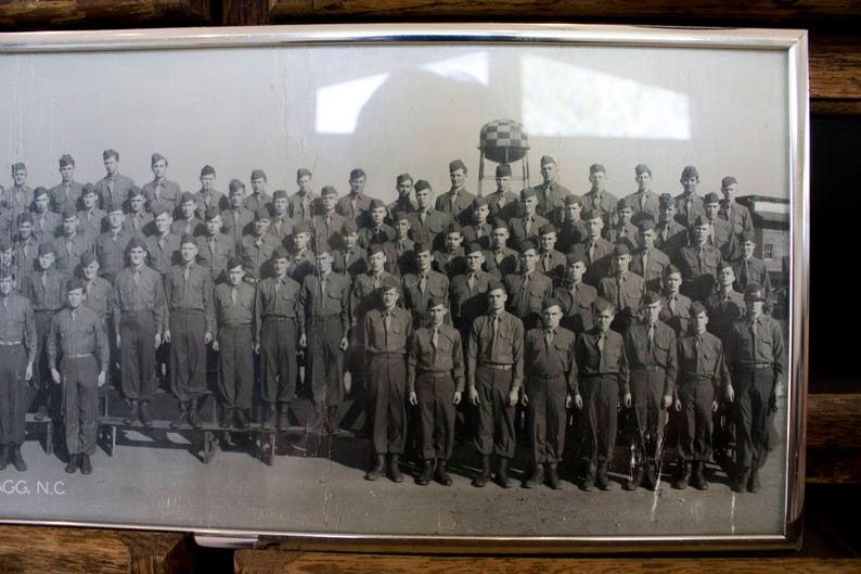 Vintage Rell Clements WWII World War II Era Military Photo Panorama Fort  Bragg, N C  12-28-46