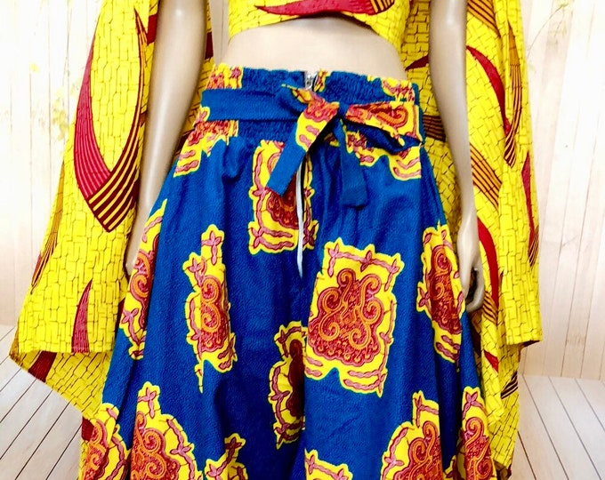Ankara High Waisted Wid Leg Pants