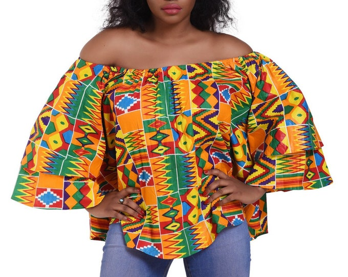 African Print Blouse