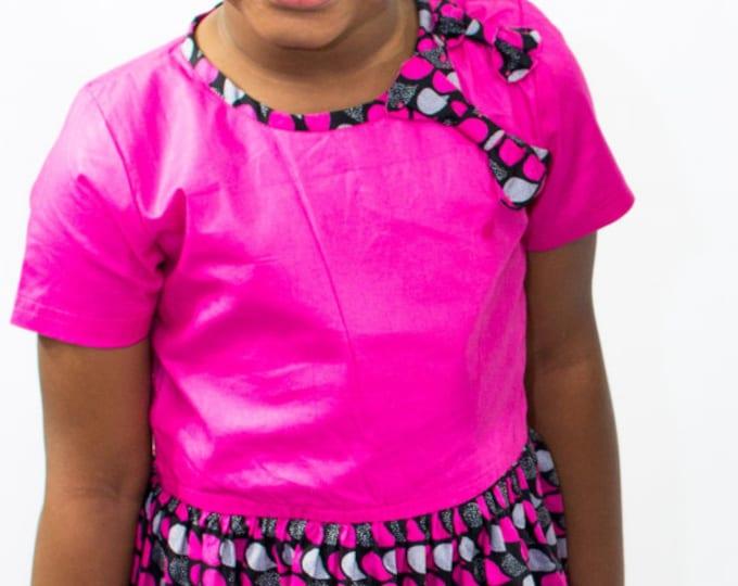 Ankara Pink Girls Dress