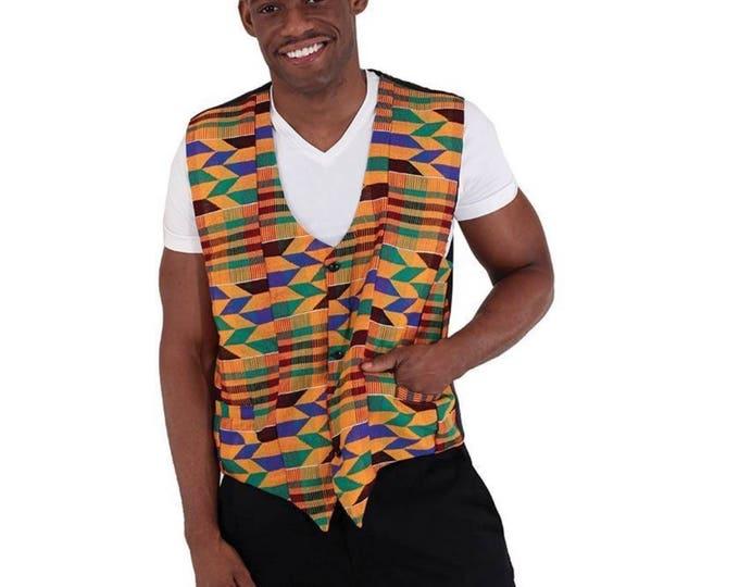 Hand Woven Kente Vest
