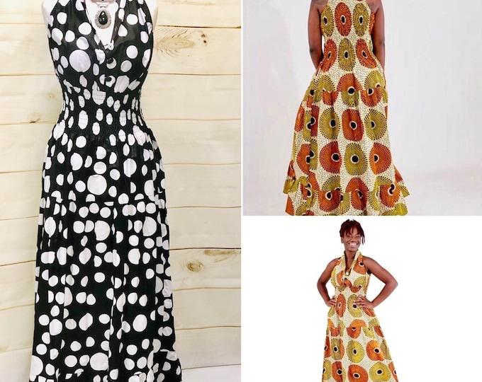 African Print Sleeveless Dress