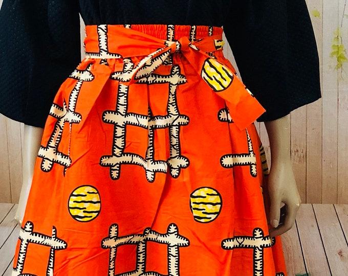 High Low Print Maxi Skirt