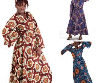 b09f6b18c7 African Print Wrap Dress