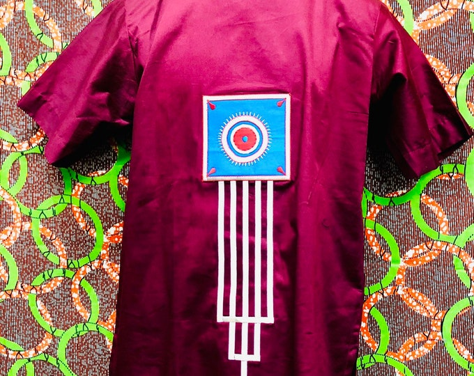 Men's Polish Cotton Embroidery Dashiki Shirt