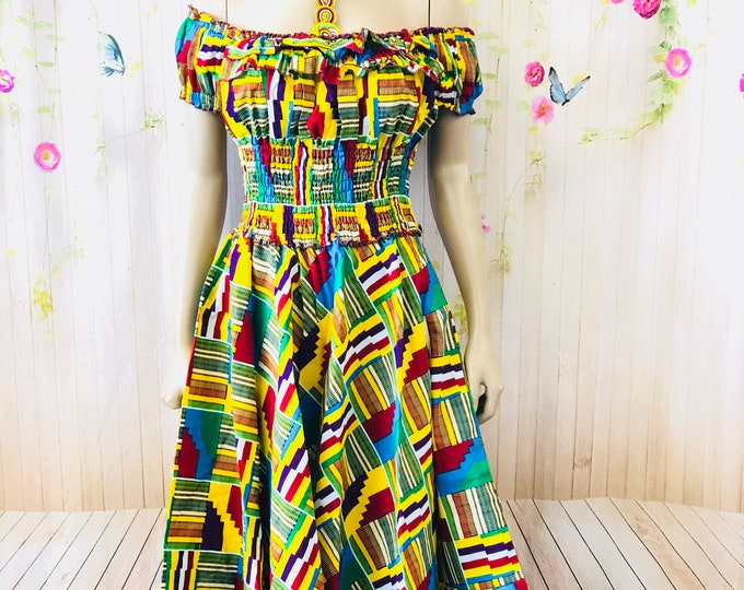 Nubian Queen Skater Dress With headwrap
