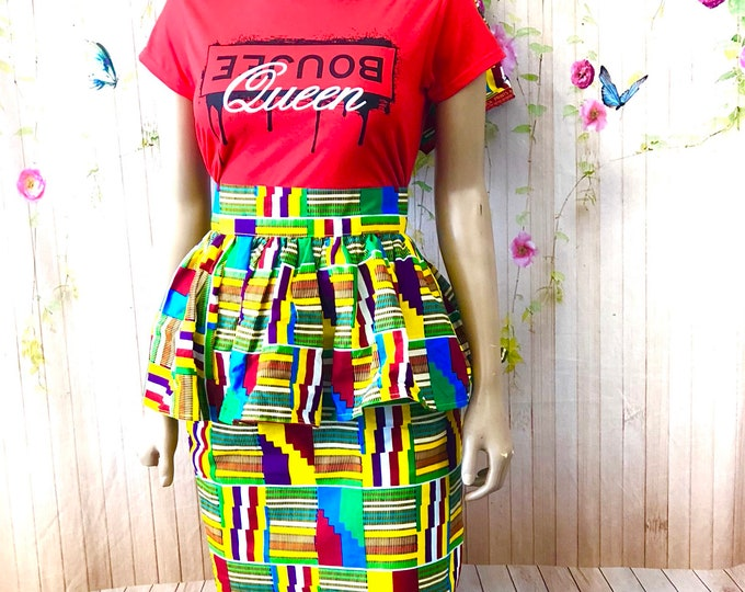 Nubian Queen Peplum Skirt with Headwrap