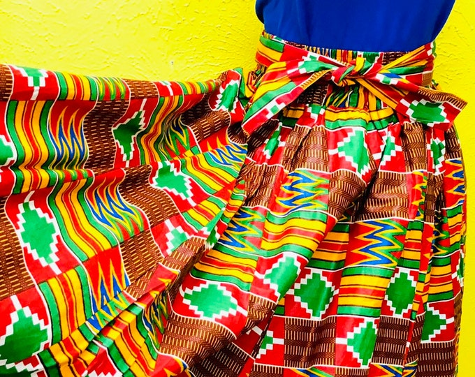 Kente Maxi Skirt with Pockets