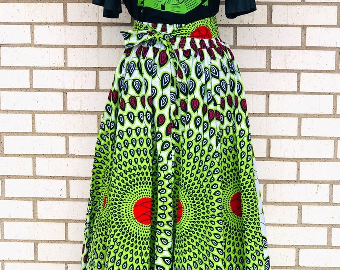 Ankara Maxi Skirt with Pockets
