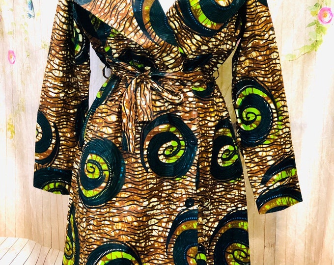 Ankara Trench Button Jacket