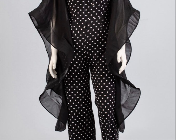 Dramatic Sleeves Polka Dot Jumpsuit