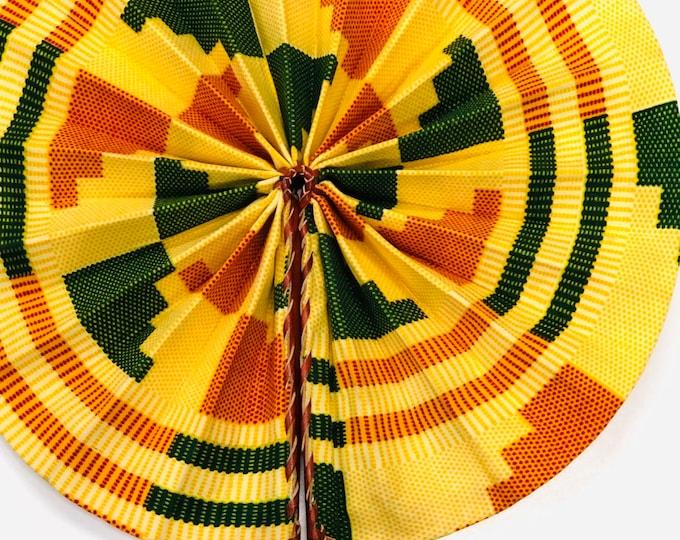 Kente Hand Folding Fan