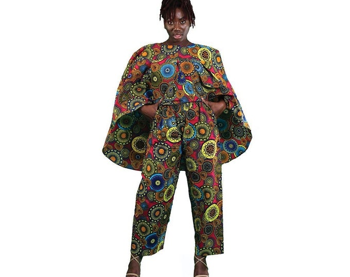 Ankara Cape Pants set