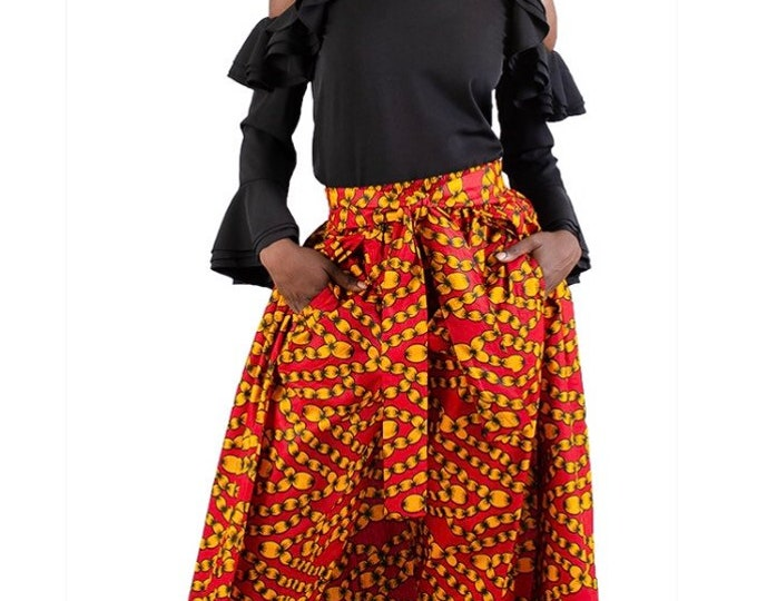 Ankara Pants Skirt with Pockets and head wrap
