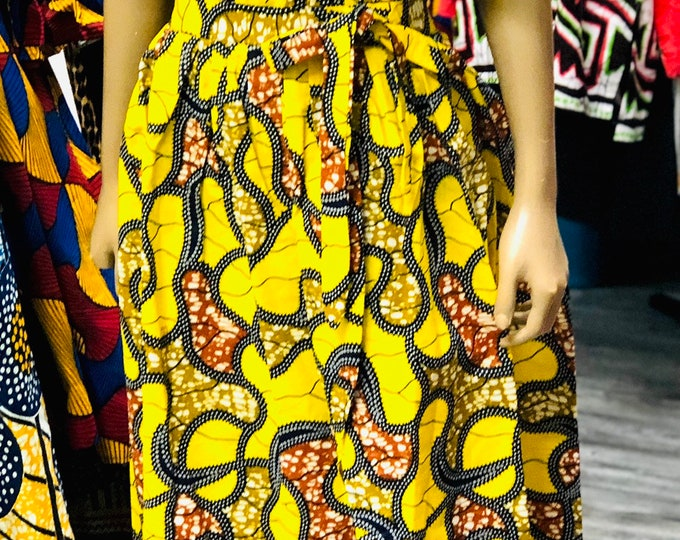 Ankara Crop Top and Maxi Skirt set
