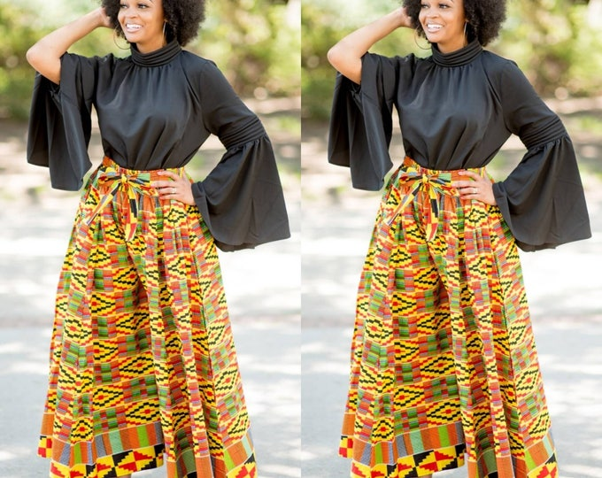 Featured listing image: Wide Leg African Print Trousers