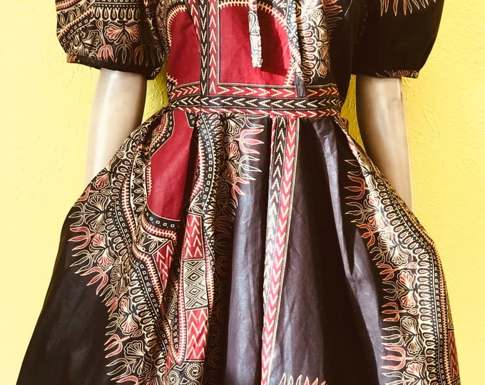A-line Dashiki Dress