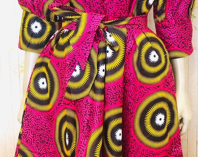 Free Flowing Bold Prints Ankara Dress