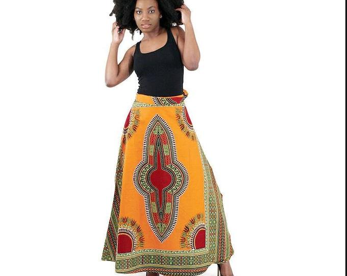 Dashiki Print Wrap Skirts