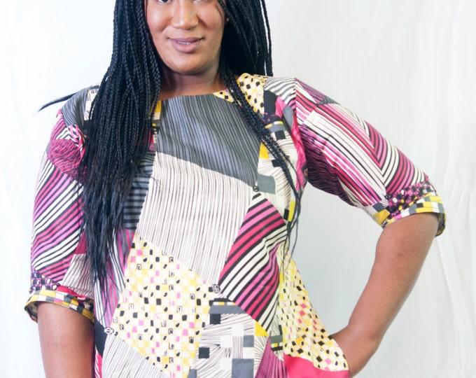 Ankara patch work blouse