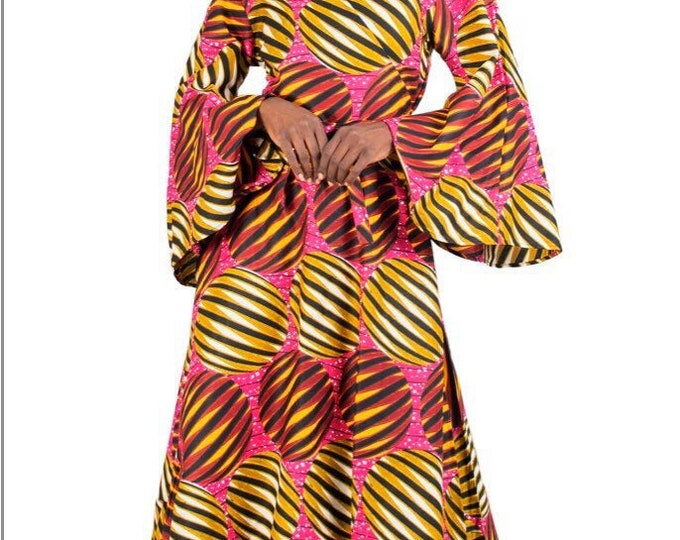 Featured listing image: African Print Wrap Dress