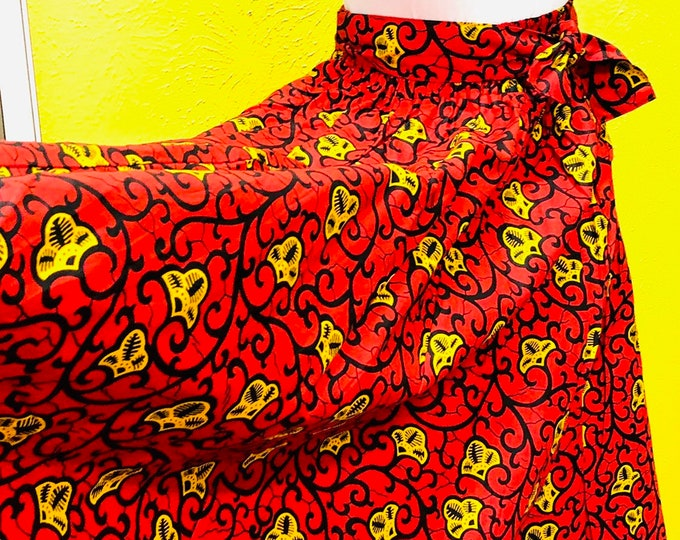 Ankara Maxi Skirt with Pockets
