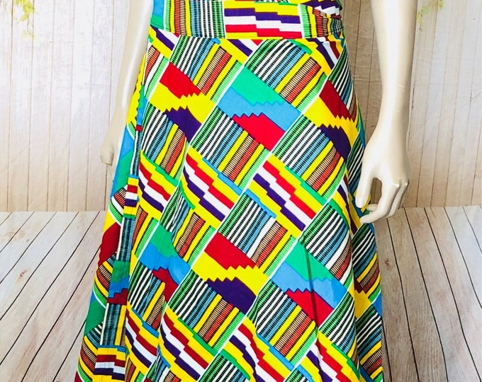 Ankara Wrap Skirt with Tube Top