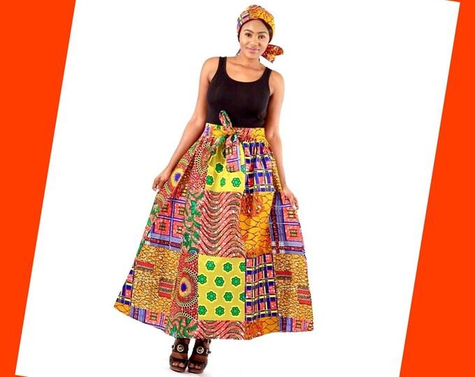 Mix Print Maxi Skirt