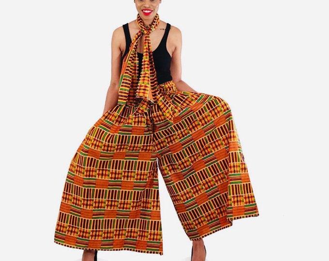 Palazzo African Print Pants