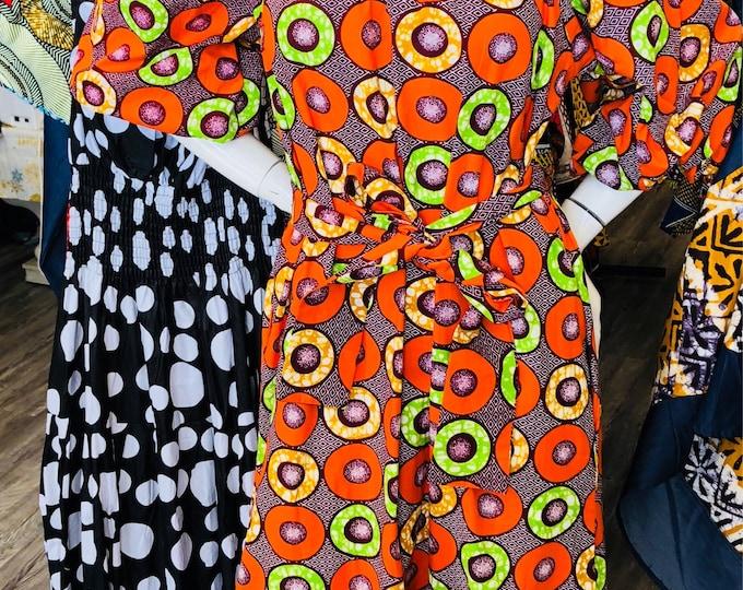 Off the Shoulder Ankara Maxi Dress with pockets