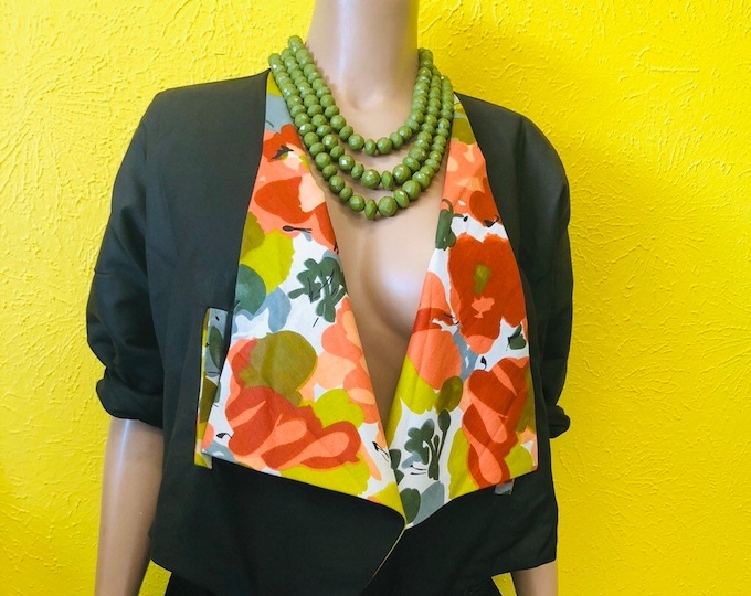 Open Front Drape Blazer with matching Headwrap