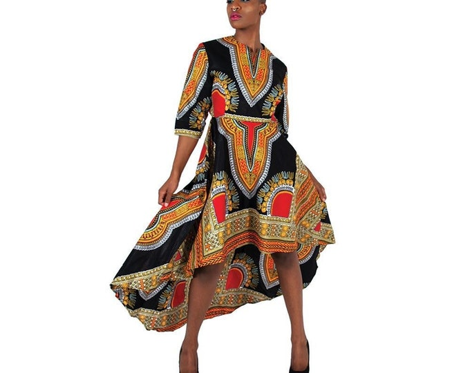 Hi-Lo Dashiki Formal Dress