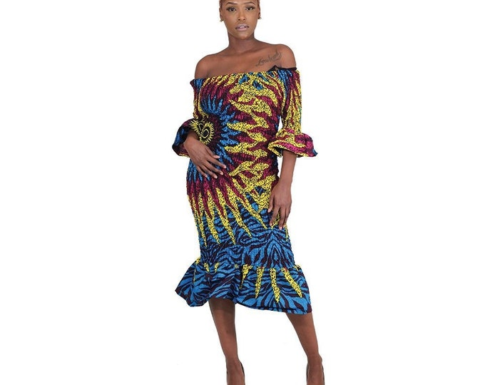 Eye of the Sun Short Fitted Dress