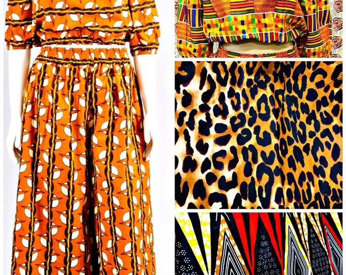 Ankara Pants Set with Off the Shoudler Top
